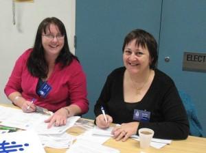 Volunteers Leanne and Janiffer