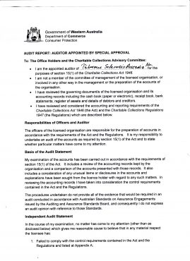 TSA Audit Report Page 3
