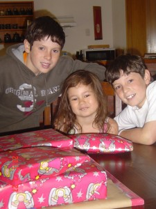 Coutney with her brothers, Jordan and Tyler