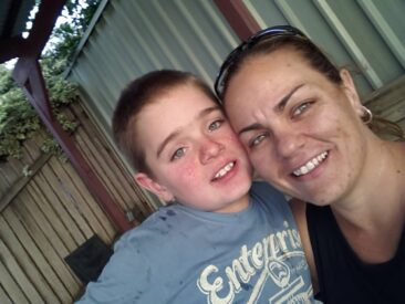 My son Bradley who is 11 years old and myself who is 38 years old. Both have TSC.