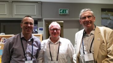 Dr Murray Leikis from New Zealand (TSCNZ) with colleagues from Sweden and USA
