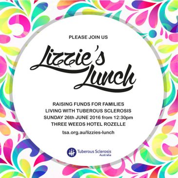 Lizzie's Lunch fundraising event in Sydney on 26 June