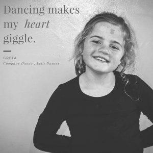 Celebrating her love of dance