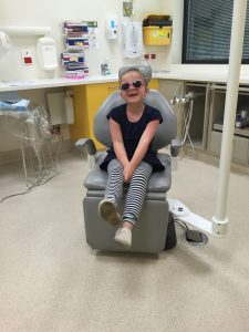 Greta at a medical appointment