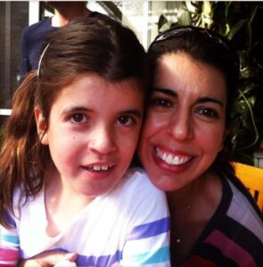 Debbie with her daughter Alana who has TSC